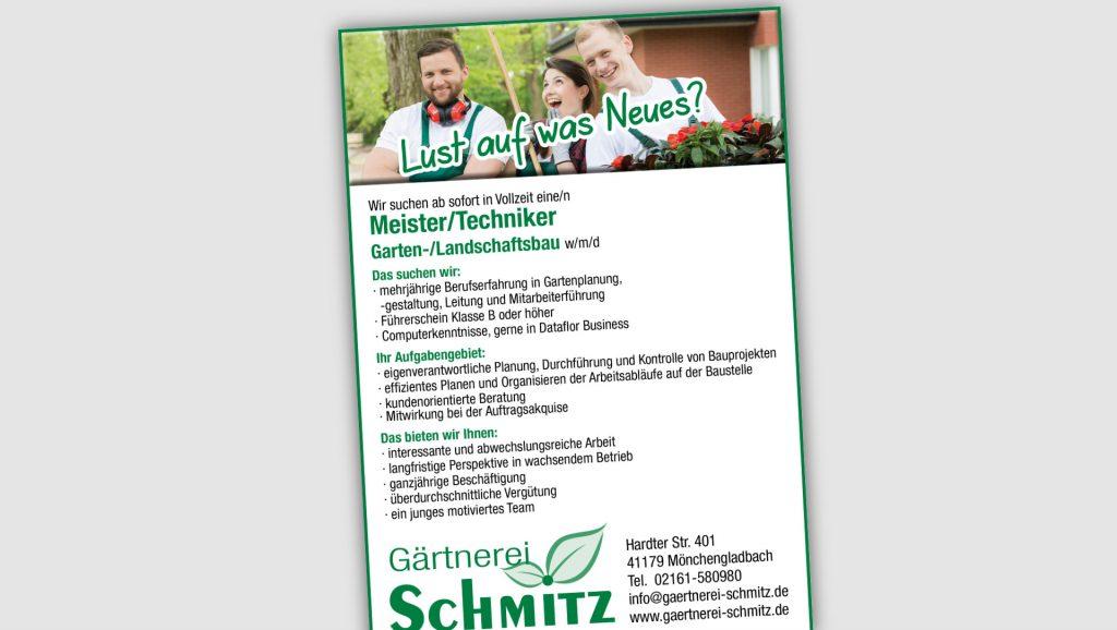 Gärtnerei Schmitz Anzeigen