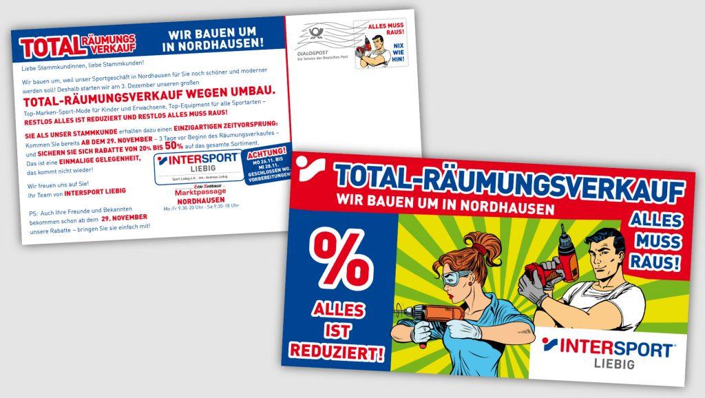 Intersport Liebig Postkartenmailing
