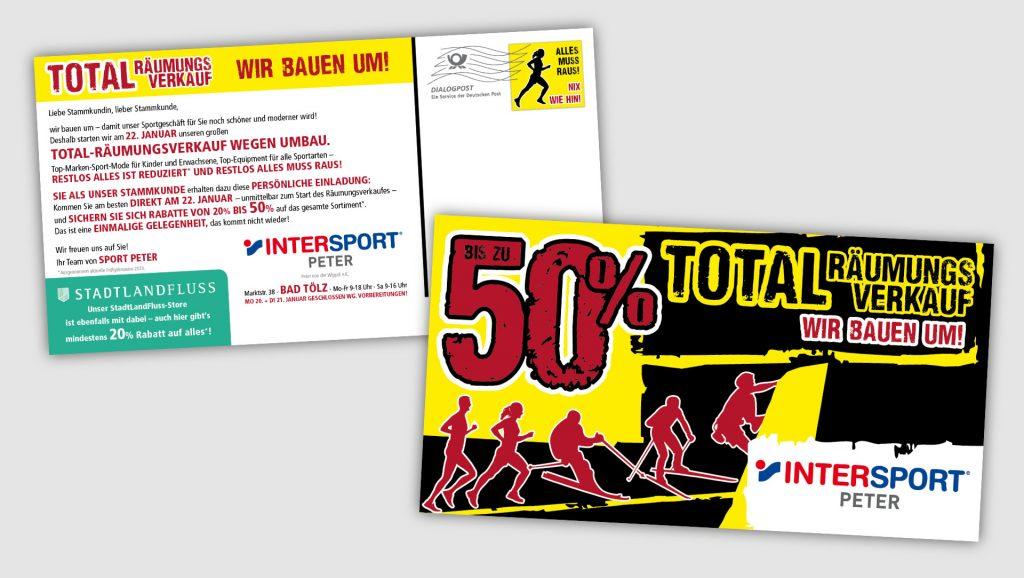 Intersport Peter Postkartenmailing