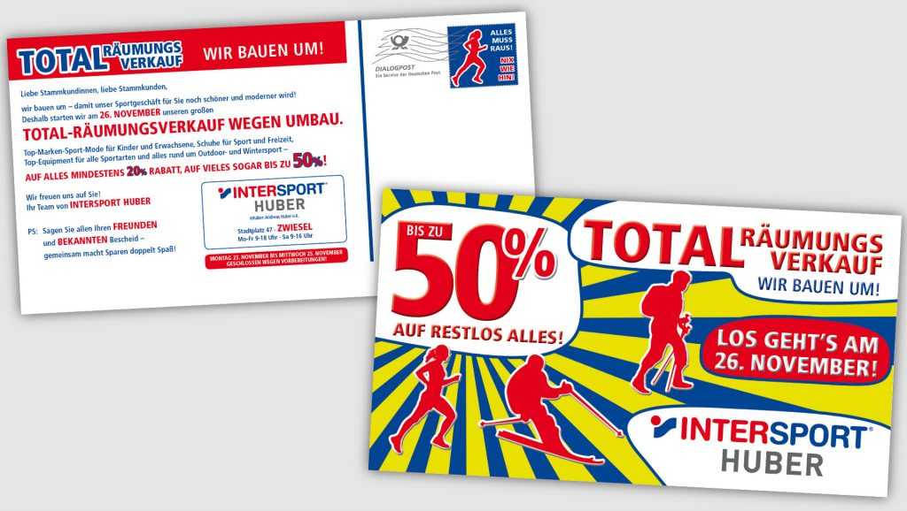 Intersport Huber Postkartenmailing