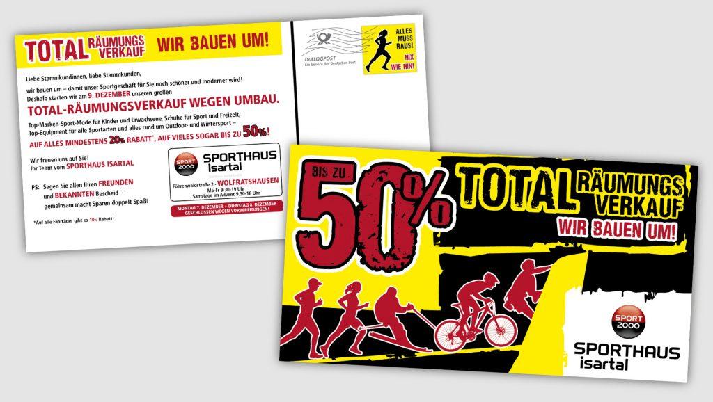 Sport 200 Isartal Postkartenmailing