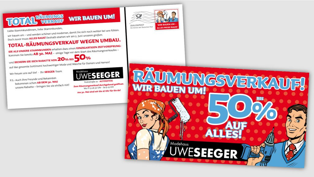 Modehaus Seeger Postkartenmailing