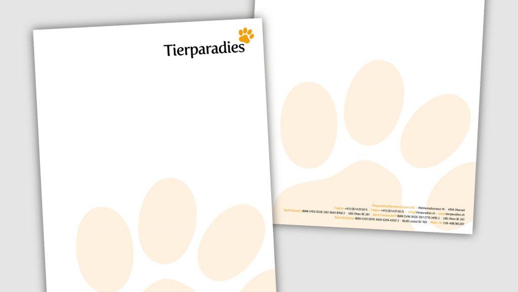 Tierparadies Briefbogen