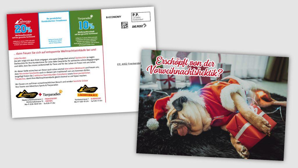 Tierparadies Postkartenmailing