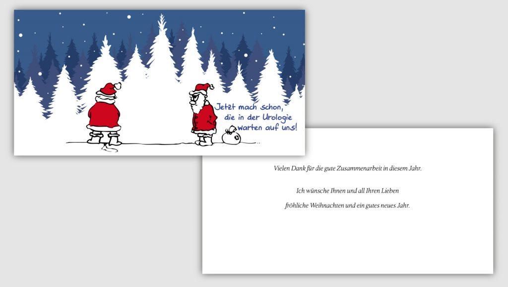 Uniklinik Münster Weihnachtskarte