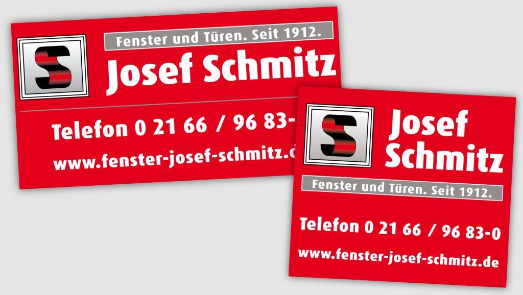 Josef Schmitz Baustellenschilder