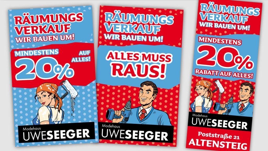 Modehaus Seeger Plakate