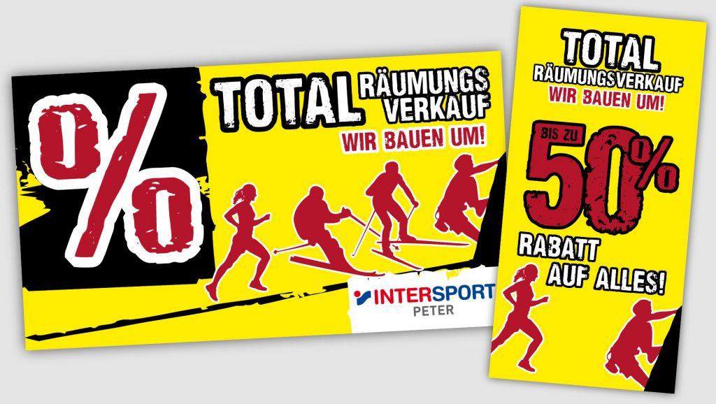 Intersport Peter Schaufenster