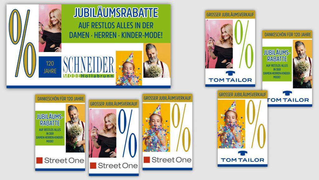 Schneider Mode Fensterposter