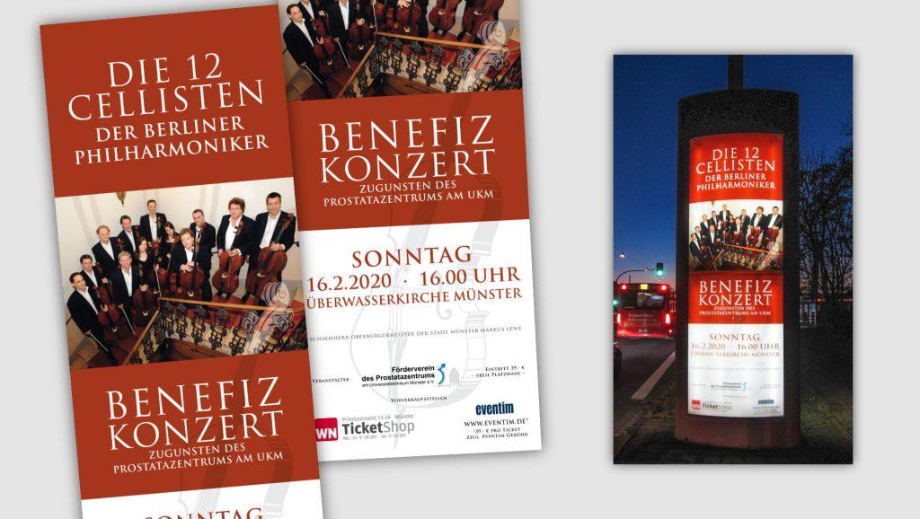 Uniklinik Münster Plakat 12 Cellisten